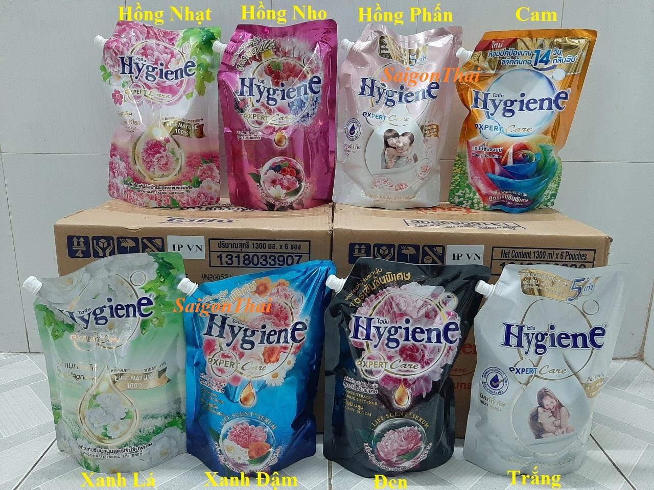 ĐÁNH GIÁ] (SGT) Nước xả vải Hygiene (đủ 8 màu) đậm đặc túi 1300ml Thái Lan,  Giá rẻ 89,000đ! Xem đánh giá! - Cửa Hàng Giá Rẻ