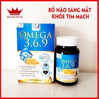 Hộp 60 viên dầu cá O.mega 369 bổ não, sáng mắt, khỏe tim mạch- chuẩn GMP Bộ Y tế - omega eucare thumbnail