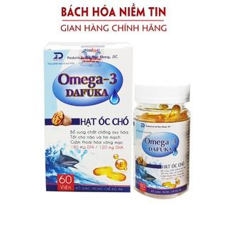 Viên uống O.mega 3 Dafuka - chiết xuất hạt óc chó - Giúp sáng mắt, khỏe tim, tăng cường trí nhớ hiệu quả - Hộp 60 viên - omega3dpk thumbnail