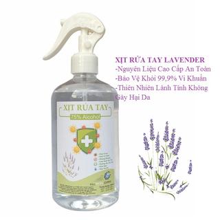 [500ml] Xịt Rửa Tay Lavender Kháng Khuẩn 99,9%, Dưỡng Ẩm Không Gây Khô Da - xịt rửa tay lavender-500ml thumbnail
