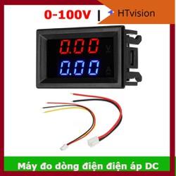 Đồng hồ đo dòng điện điện áp DC một chiều 0-100V 10A đo pin năng lượng mặt trời sạc điện thoại