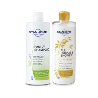 Bộ Dầu Gội, Sữa Tắm Không Xà Phòng Family Shampoo hạn 09 2022 và All Purpose Shower Oat Stanhome hạn 08 2022 - 1356_47402496 thumbnail