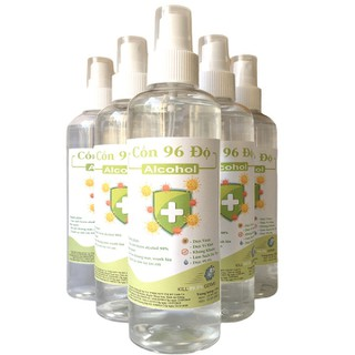 [Vòi xịt] Chai 250ml cồn y tế 96 độ chuẩn dùng sát khuẩn, rửa tay - cồn 96 độ - 250ml thumbnail