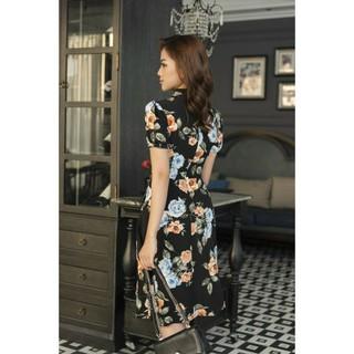 Đầm hoa công sở cao cấp - Hoa cs50 thumbnail