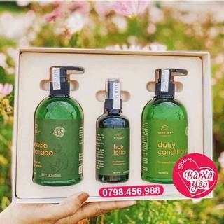 Combo tinh dầu dưỡng tóc ,dầu gội bưởi, dầu xả hoa cúc phục hồi tóc hư tổn suôn mượt tóc Vi Jully - K777 thumbnail