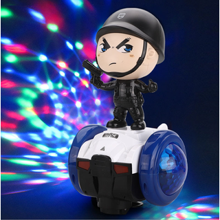 Xe đồ chơi cân bằng robot cảnh sát xoay 360 độ có đèn, nhạc cho bé - quà tặng cho bé - VDH1205 thumbnail