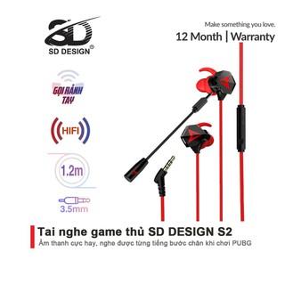 Tai nghe Gaming chính hãng SD DESIGN S2 chuyên dùng cho game thủ có mic, chân kim nghiêng 3.5mm - SD-S2 thumbnail