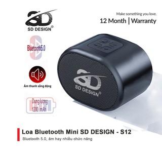 Loa Bluetooth Mini S12 Không Dây Chính Hãng SD Design Nghe Nhạc Hay Âm Thanh Chất Lượng Hỗ Trợ Cắm Thẻ Nhớ Và Usb - SD-S12 thumbnail