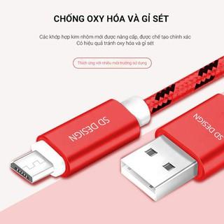 Cáp Sạc iPhone, Micro dây dù chính hãng SD DESIGN L1 sạc điện thoại ip, samsung, oppo ổn định, Bảo Hành 1 Đổi 1 - SD-L1 thumbnail