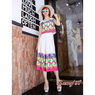 Set quần cullotes hoa chân - Rumyh023Xr thumbnail
