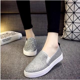 Giày Lười Nữ Hàn Quốc Phủ Kim Tuyến KSHi002 Siêu Xinh - KSHi002 thumbnail