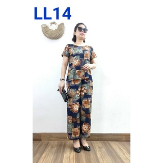 [Mẫu Mới] - Bộ Lanh cao cấp ( đã qua xử lý co ) - đủ size từ 47 - 70kg - dành cho quý bà 2021 - Laddy Store - Lanhlua2021A thumbnail
