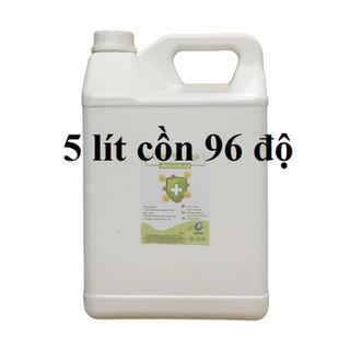 Cồn y tế 96 độ Can 5 lít dùng sát khuẩn, rửa tay (hàng cty) - cồn 96 độ - 5 lít thumbnail