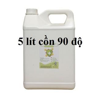 Cồn y tế 90 độ Can 5 lít dùng sát khuẩn, rửa tay (hàng cty) - cồn 90 độ - 5 lít thumbnail