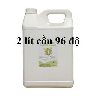 Cồn y tế 96 độ Can 2 lít dùng sát khuẩn, rửa tay (hàng cty) - cồn 96 độ - 2 lít thumbnail