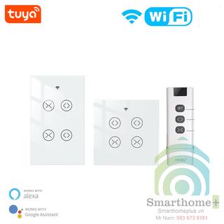 Công Tắc Wifi Và RF 2 Cổng Điều Khiển Động Cơ Rèm Cửa Tuya SHP-RC1 - SHP-RC1 thumbnail