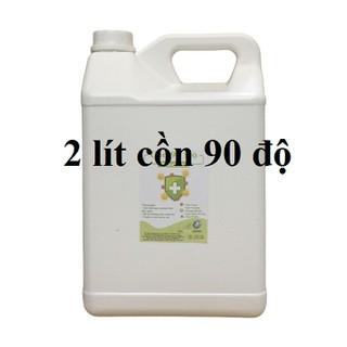 Cồn y tế 90 độ Can 2 lít dùng sát khuẩn, rửa tay (hàng cty) - cồn 90 độ - 2 lít thumbnail