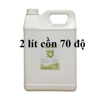 Cồn y tế 70 độ Can 2 lít dùng sát khuẩn, rửa tay (hàng cty) - cồn 70 độ - 2 lít thumbnail