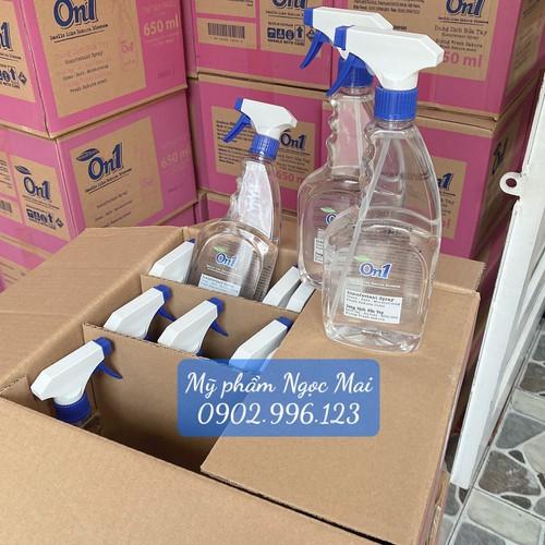 1 thùng 18 chai xịt khuẩn on1 dung dịch rửa tay khô 650ml