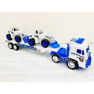 Đồ chơi xe cảnh sát xe tải chở xe xúc cứu hộ dành cho bé thích chơi xe mô hình - MHCXCH thumbnail
