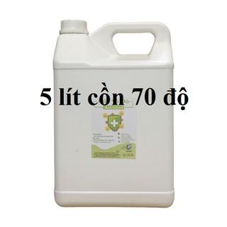 Cồn y tế 70 độ Can 5 lít dùng sát khuẩn, rửa tay (hàng cty) - cồn 70 độ - 5 lít thumbnail