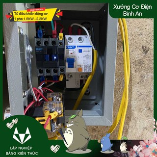 Tủ điều khiển 1 pha chống giật công suất 1.5KW đến 2.2KW - TDKCG1.52.2 thumbnail