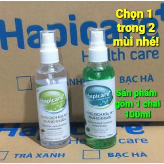 Dung dịch nước rửa tay kháng khuẩn Hapicare chai 100ml xịt khô nhanh - 4077_47969215 thumbnail