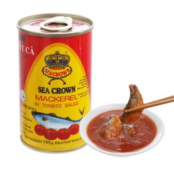Cá nục sốt cà Sea Crown Thái lan 155gr