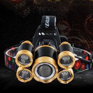 Đèn pin đeo đầu 5 bóng chống nước mưa du lịch - BHV2121 thumbnail