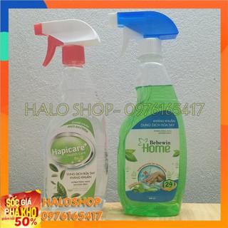 Dung dịch rửa tay kháng khuẩn dạng nước xịt Hapicare - Bebewin Home loại chai 500ml - M21721028 thumbnail