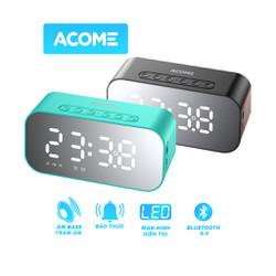 Loa Bluetooth 5.0 Kiêm Đồng Hồ Báo Thức ACOME A5 - Hỗ Trợ Thẻ Nhớ - Nghe Đài FM - Chính hãng ACOME - BẢO HÀNH 1 ĐỔI 1 12 THÁNG