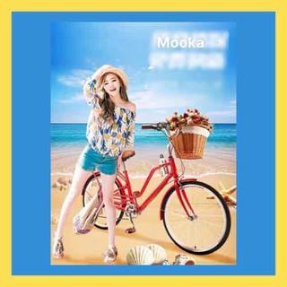 Xe đạp nữ 24 icnh kiểu cổ, mang phong cách Châu Âu . khung hợp kim nhôm siêu nhẹ - xe đạp nữ thumbnail