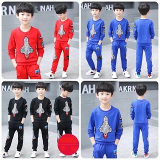 Set bộ quần áo trẻ em dành cho bé trai 18-28kg mẫu Tàu vũ trụ. Thiết kế bắt trend, màu sắc bắt mắt - Set Tàu Vũ Trụ thumbnail