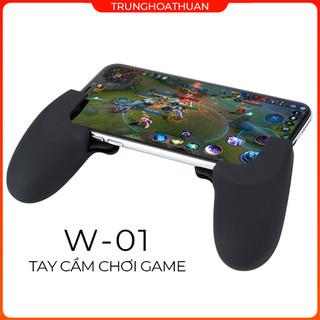 Tay cầm chơi game W-01 kiêm giá đỡ chất liệu nhựa dẻo chống trầy êm ái bám tay cơ chế lò xo chính hãng phù hợp cho các dòng Samsung OPPO Vivo HUAWEI XIAOMi tay cầm điện thoại - W01 thumbnail