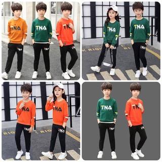 Set bộ quần áo trẻ em Thu đông 2021 dành cho bé trai và bé gái 18-28kg. Chất vải đẹp, màu sắc bắt mắt - Set TNA thumbnail