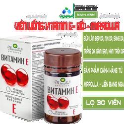 [ CHÍNH HÃNG] Vitamin E Đỏ của Nga MIRROLLA Hàm Lượng 270mg Và 400mg - GIÚP ĐẸP DA, SÁNG DA, TRẮNG DA, LỌ 30 VIÊN