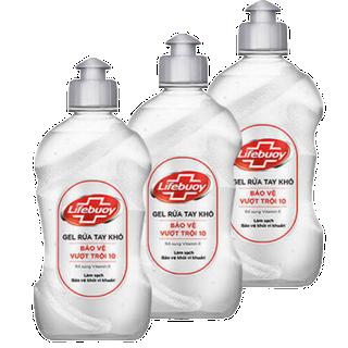 Gel Rửa Tay Khô Lifebuoy 500ml (combo 3 chai) Gel Rửa Tay Khô Sạch Siêu Nhanh Lifebuoy Bảo Vệ Vượt Trội 10 - AL28 - 3 chai thumbnail