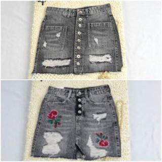 Combo 2 Chân váy jeans ngắn kiểu chữ A size L thời trang nữ - CVA04 thumbnail