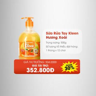 Thùng Sữa rửa tay Kleen hương Xoài (12 chai) - 4077_48189074 thumbnail