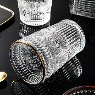 Bộ 6 cốc thủy tinh chịu nhiệt cao cấp hoa văn tròn trắng viền vàng - 1525_48193840 thumbnail