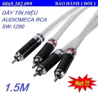 DÂY TÍN HIỆU AUDIOMECA RCA SW-1290 1.5M CHẤT LIỆU BẠC STERLING CAO CẤP - HÀNG CHÍNH HÃNG - SW-1290 1.5m thumbnail