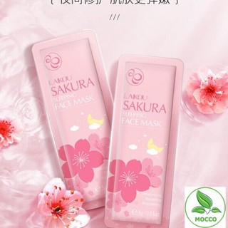 1 Miếng Mặt Nạ Ngủ Hoa Anh Đào Sakura Laikou Chính Hãng trắng da - 2998_48187384 thumbnail
