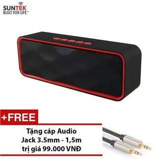 LOA Bluetooth SUNTEK SC211 Đỏ đen + Tặng Jack 3.5mm - 230289074 thumbnail
