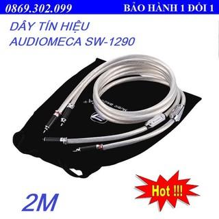 DÂY TÍN HIỆU AUDIOMECA RCA SW-1290 2M CHẤT LIỆU BẠC STERLING CAO CẤP - HÀNG CHÍNH HÃNG - SW-1290 2m thumbnail