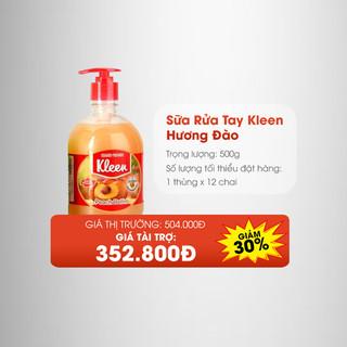 Thùng Sữa rửa tay Kleen hương Đào (12 chai) - 4077_48188784 thumbnail