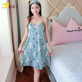 Váy ngủ, đầm mặc nhà họa tiết xinh xắn vn15 - vn15 thumbnail