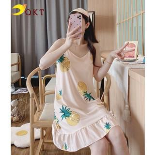 Đầm mặc nhà, đầm ngủ QKT 2 dây đuôi cá hình dứa cute vn20 - vn20... thumbnail