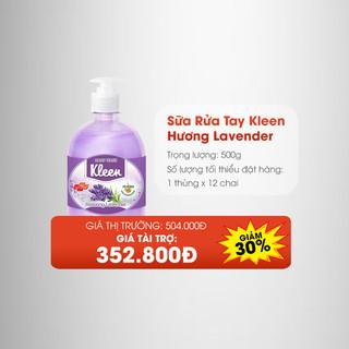 Thùng Sữa rửa tay Kleen hương Lavender (12 chai) - 4077_48188763 thumbnail