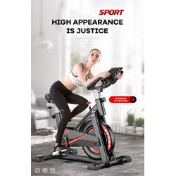 Xe đạp tập gym tại nhà Toshiko X8 màu đen đỏ kiểu dáng thể thao chất lượng cao
