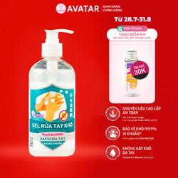 Nước rửa tay khô Avatar 75% cồn (Dung tích 500ml)- Diệt khuẩn tối đa